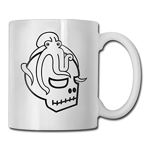 KIMIOE Tazas Octopus Skull 3D Custom Painting Travel