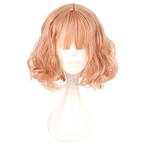 35 cm Japón y Corea del Sur peluca Air Bang Párrafo con Harajuku diario rosa oro Lolita peluca