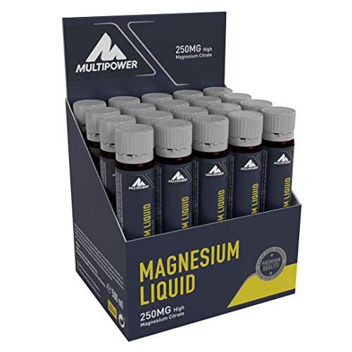 Multipower L-Magnesium Liquid - Integratore Alimentare Liquido - 250 mg di Magnesio di Alta Qualità per Ampolla - Perfetto per il recupero muscolare - Confezione da 20 x 25 ml