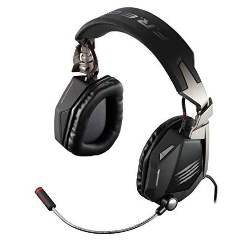 Mad Catz F.R.E.Q.5 Stereo Headset mit abnehmbaren Mikrofron (3,5mm Klinkenstecker, Soundmodus 2.0, USB), Matt Schwarz
