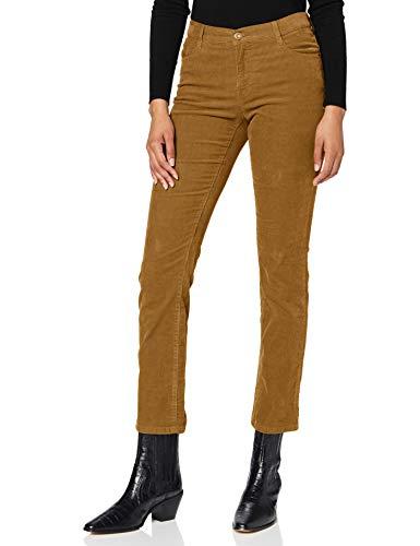 BRAX Damen Style Mary Feincord Five Pocket Slim Fit Sportiv Hose, Cognac, W(Herstellergröße: 44)
