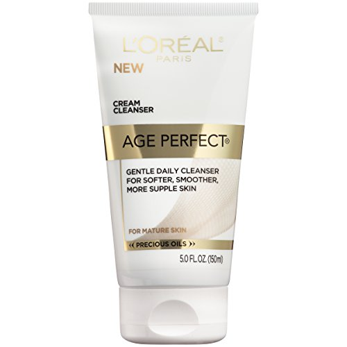 Gentle Daily Cleanser for Softer and Smoother Skin, L'Oreal Paris Age Perfect Cream Cleanser, Makeup Remover, Face Wash for All Skin Types, 5 fl. oz