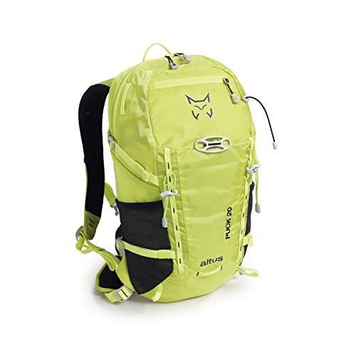 ALTUS - Mochila Trekking Puck 20L | Mochila para Montañismo, Trekking, Senderismo, Daypack | Estabilidad con EvaFit | Tejido Ligero, Soporte para Caso, Cintas Portamateriales