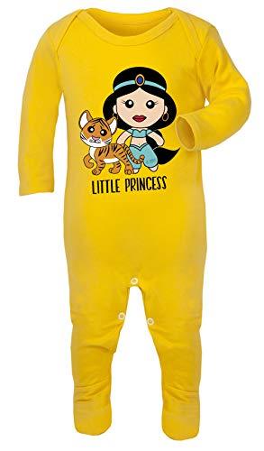 Aladdin Princess Jasmine Print Kostuum Footies 100% Katoen Hypoallergeen