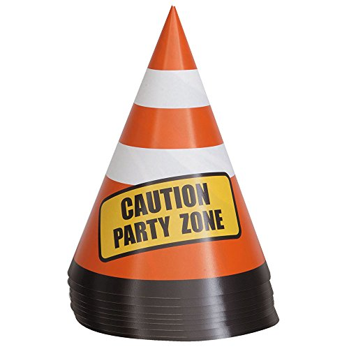 Safety Traffic Cone Construction Party Table Decorations, 8ct