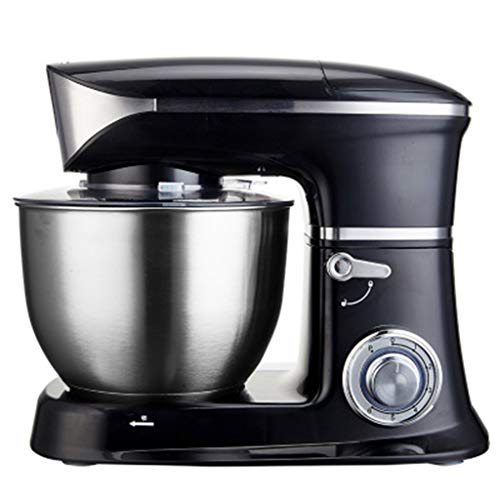 Optimale keukenmachine, 1300W mixer met 6.5L roestvrijstalen mengkom, keukenmixer gardeegmachine, broodmixermachine,Black