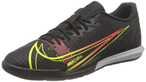 Nike Herren Vapor 14 Academy IC Football Shoe, Black/Cyber-Off Noir-Rage Green-Siren Red, 45 EU