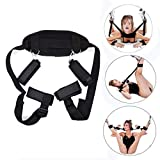 Restraint Kit for Sex BDSM Bondage Thigh Adult Sex Toy Set Fetish Things for Women Men Couples Restraining Harness Soft Cuffs Sex Swing Plumage Bondage Restraint Sex Toy with Adjustable Straps