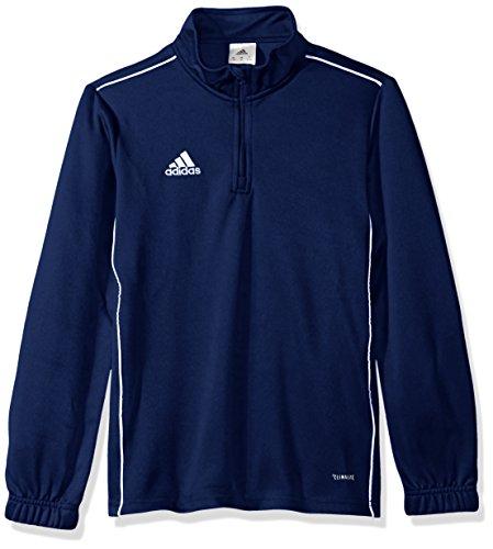 adidas Unisex adidas Youth Soccer Core18 Training Top, Dark Blue/White, Medium