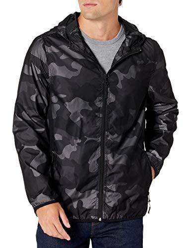 Urban Republic Mens MESH CAMO Jacket, Black, L