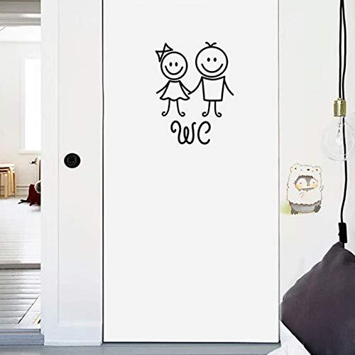 PMSMT Hombres y Mujeres de Dibujos Animados WC Pegatinas de Pared WC WC baño Pegatinas Decorativas talladas Personalizadas