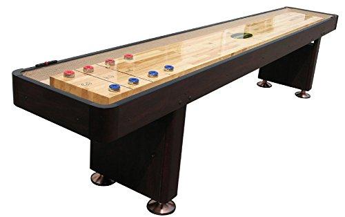 Best Bargain The Standard 9 Foot Shuffleboard Table in Espresso by Berner Billiards