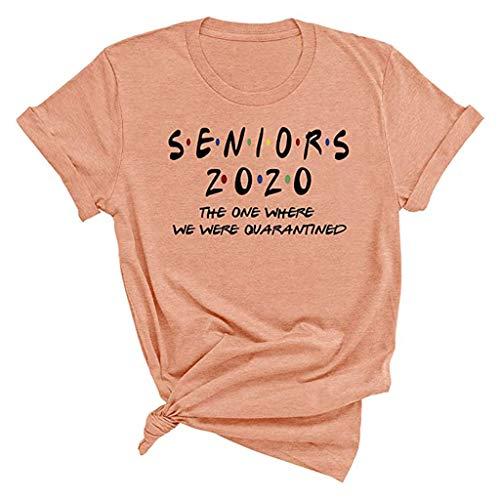 KPILP Damen Sommer T-Shirt 2020 Kurzarm Rundhals Tops Oberteile Hemd Bluse Teenager Mädchen Oberteile Seniors