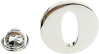 FOPUYTQABG Broche de Moda Plata Carta Solapa Pin de los Hombres 26 Cartas de los Hombres de Stand Collar de Fiesta de Comp...