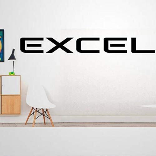 Excel - Adhesivo decorativo para pared, diseño de motivación, ejercicio, fitness, gimnasio, para dormitorio, sala de estar, decoración del hogar