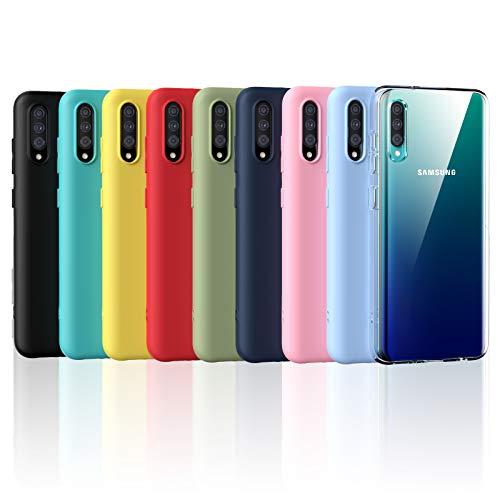 Oududianzi - Funda para Samsung Galaxy A30s / Samsung Galaxy A50,Case de Silicona Suave de TPU Funda Protector de Goma Fexible Delgado Liviano y a Prueba de Golpes Antirrayas [9 Colores]