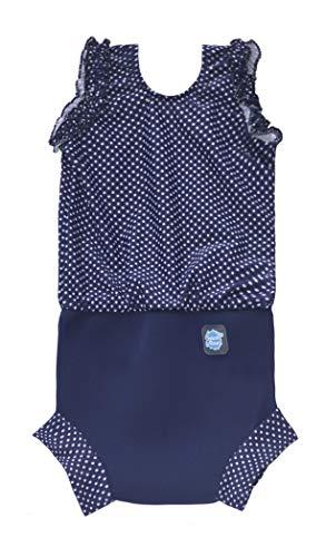 Splash About Baby Mädchen Neopren Nappy-anzug Navy Dot 0-4 Monate