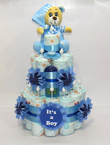 """Windeltorte""""It's a Boy"""" + Bär blau"""
