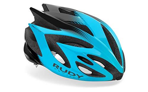 Rudy Project Rush Helm Azur Black Shiny Kopfumfang L | 59-62cm 2021 Fahrradhelm