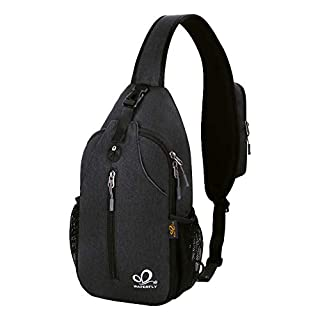 Waterfly Crossbody Sling Backpack Sling Bag Travel Hiking Chest Bag Daypack (Black) (B07T5D98RW) | Amazon price tracker / tracking, Amazon price history charts, Amazon price watches, Amazon price drop alerts