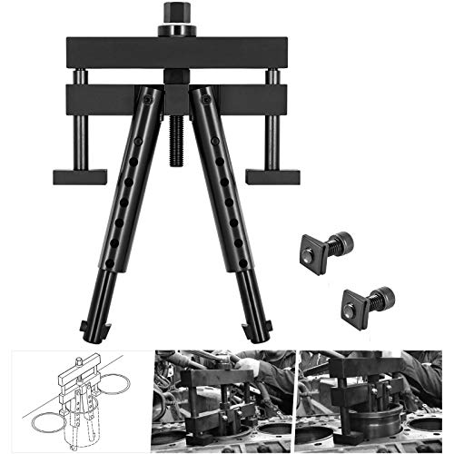 """Universal Cylinder Liner Puller Assembly - Heavy Duty Diesel Engine Cylinder Liner Puller Used for Mack Cummins CAT on Wet Liner from 3-7/8"""" to 6-1/4"""" bore, Alternative to PT-6400-C M50010-B 3376015"""