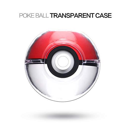 Schutzhülle für Poke Ball Plus Controller, Hartschale, für Pokeball Plus Controller, kompatibel mit Nintendo Switch Pokemon Lets Go Eevee Lets Go Pikachu, transparent