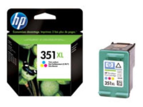 HP 351XL CB338EE Tintenpatrone, 1 x Farbe (Cyan, Magenta, Gelb), 580 Seiten, für Deskjet D4268; Officejet J6413; Photosmart C4450, C4470, C4472, C4524, C4585, C5225, C5288
