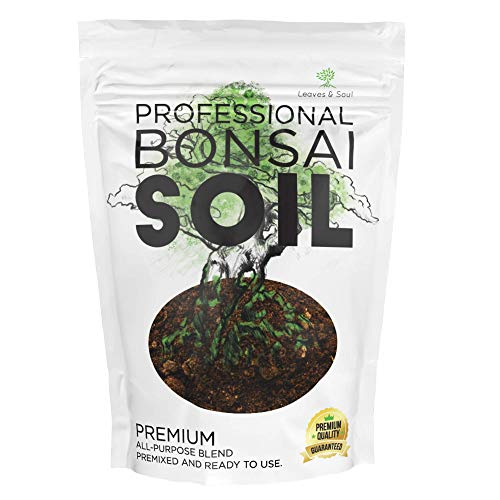 Bonsai Soil Premium All Purpose Blend | Pre-Mixed Ready to Use for Plant Support and Fast Drainage | Lava, Limestone Pearock, Calcined Clay and Pinebark | Extra Large 2.2 Quarts | Made in USA
