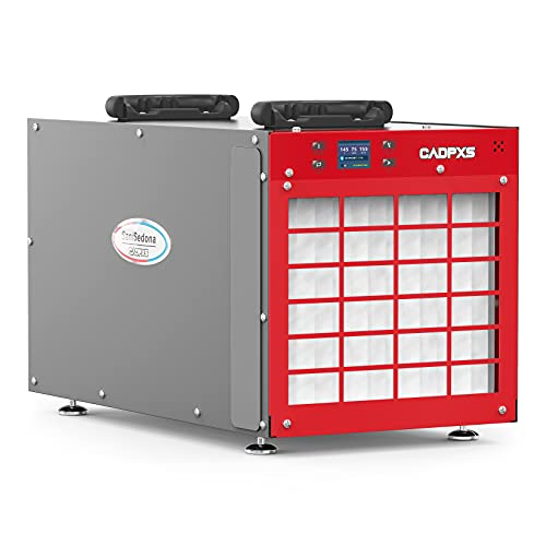 CADPXS SaniSedona 180 PPD Commercial Dehumidifier for Crawl Spaces, Basements, Whole Homes up to 2,300 sq. ft., Industrial Water Damage Equipmentfor Garages and Job Sites, 28 Gallons/Day