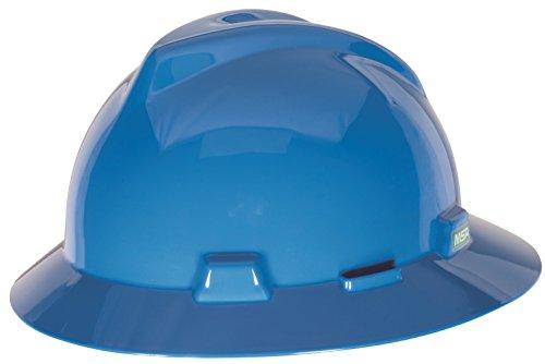MSA 10058320 V- Gard Schlitz-Vollrand Hut, 1 Touch Suspension, blau