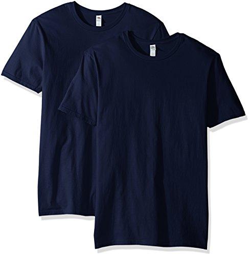 Fruit of the Loom Men's Crew T-Shirt (2 Pack), J Navy, X-Large