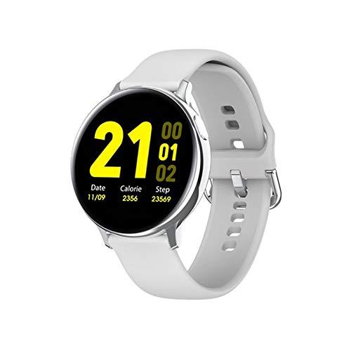 QY-Youth Smart Watch IP68 APROXIMACIÓN APROBACIÓN Fitness Rastreador de Ritmo cardíaco Monitoreo Inteligente Reloj Hombres y Mujeres Reloj de Pulsera,Gris