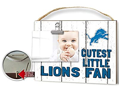 KH Sports Fan Clip It Weathered Baby Logo Photo Frame Detroit Lions