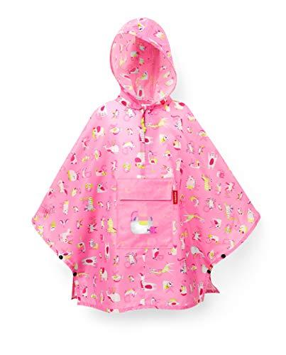 Reisenthel Mini Maxi Poncho Kids ABC Friends Pink Funda para Mochila, 93 cm, Rosa (ABC Pink)