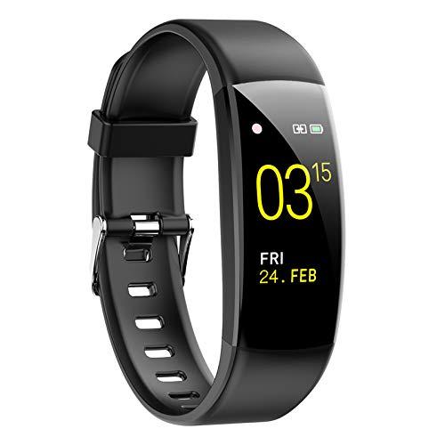 Pulsera Actividad Inteligente Smartwatch Fitness Tracker Impermeable IP67 con Monitor de Sueño Podómetro Pulsómetro para Mujer Hombre con iOS y Android