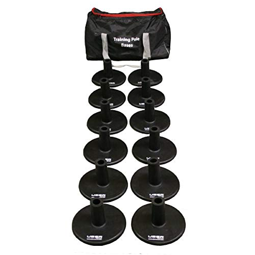 Uber Soccer Weighted Bases for Agility Poles Training Set - Rubber - Set of 12