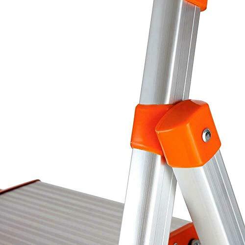 TimmyHouse Folding Stepladder 2 Step Ladder Heavy Duty Platform Stool Non-Slip Aluminum