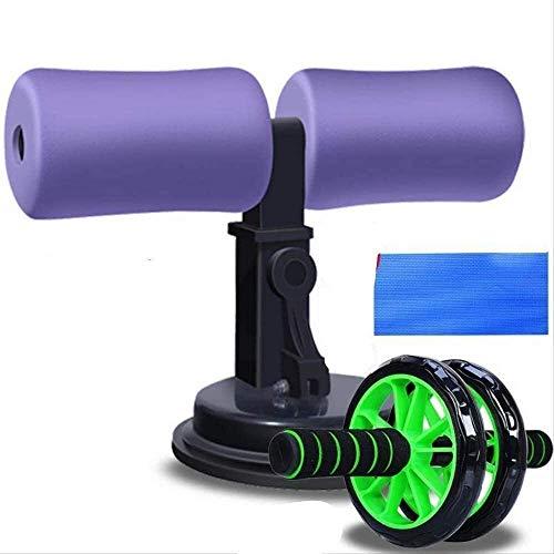YYhkeby NO Logo Ab Bauch Roller Rad Bauchtrainer Rad-Rolle Set Heimfitnessübungen Yoga Bauchmuskeln Bauch Runde reduzieren Bauch Jialele (Color