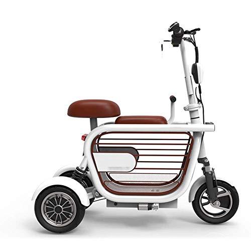 ZGYQGOO Scooter eléctrico Mobility Scooter eléctrico de 3 Ruedas Plegable, Bicicleta eléctrica-34 km/h, diseño fácil de Plegar y Transportar, Scooter eléctrico para Adultos Ultraligero