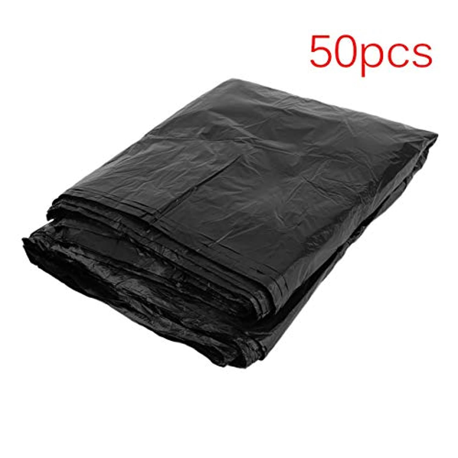 50 Pcs Large 55 Gallon Thicken Indoor Outdoor Kitchen Trash Can Garbage Rubbish Bags Household Cleaning Tool