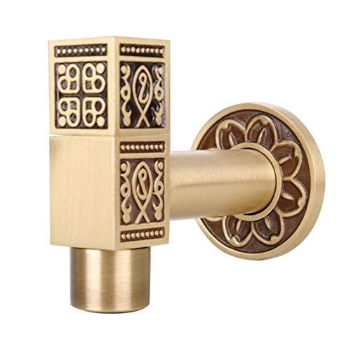 CHEN-TEA Fashion Antique Water Faucet Brass Water Faucet Stop Valve Outdoor Garden Faucet,Bathroom Accessories (Color : Antique 1)