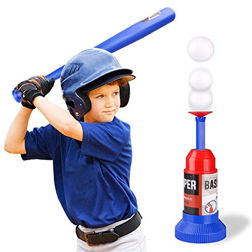 Asyxstar Toddler Toys TBall SetKids Toys Baseball Tee Ball Set Outdoor Toys for Toddler Boy Toys with 3 Baseballs