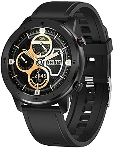 Reloj Inteligente Hombres IP68 Impermeable 1 3 Pulgadas Completo Ronda Pantalla Táctil Ritmo Cardíaco Presión Arterial Monitor de Oxígeno Reloj Inteligente-D