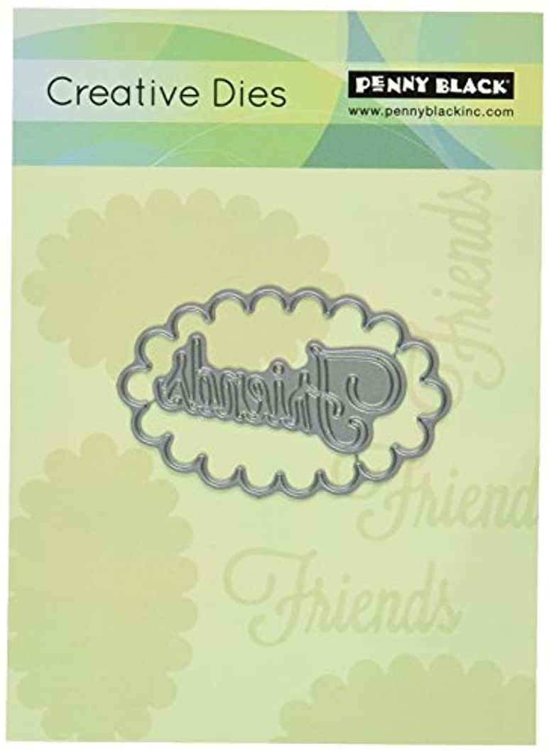 Penny Black 51-041 Creative Dies-Friends Frame, 2.9 by 1.8-Inch