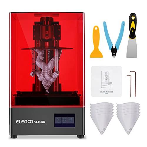 ELEGOO Saturn Imprimante 3D, UV Resine 3D Printer avec 4K Monochrome...