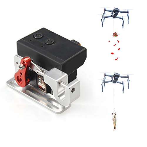 Compatible with DJI Mavic Air 2 Drone Payload Delivery Drop Transport Thrower Device with Spring Shock Extender Legs Drone Release Fishing Bait Carrying Wedding Proposal Device