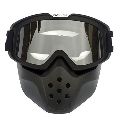 Yopria Motorrad Brille Mit Abnehmbarer Harley Stil Helm Nebelfest Winddicht Reiten Sonnenbrille Radfahren, Motorräder, Motorräder