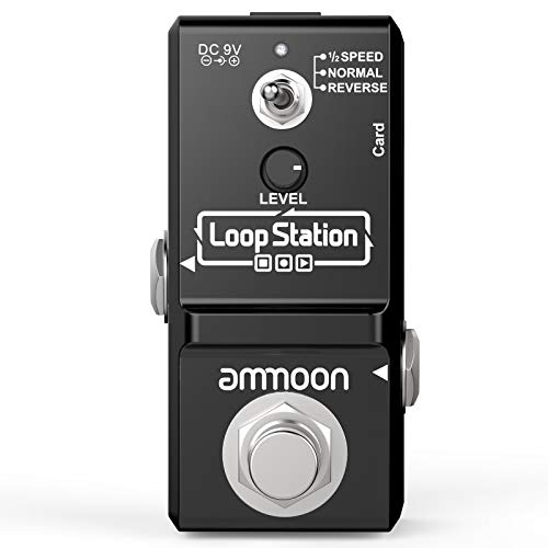 ammoon Guitar Looper Effect Pedal 10 Minutes Recording Time 3 Working Modes Loop...