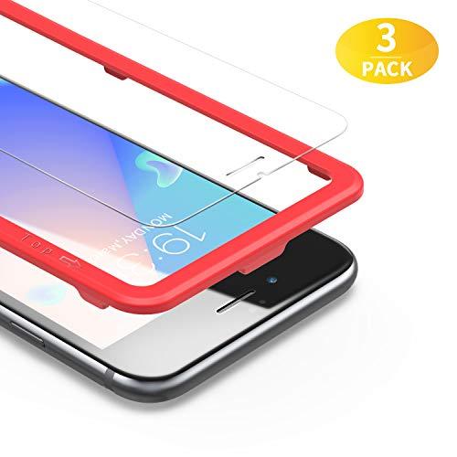 BANNIO [3 Stück] für Panzerglas für iPhone 7 Plus/iPhone 8 Plus/iPhone 6 Plus/iPhone 6S Plus (5,5 Zoll),HD Ultra-klar Panzerglasfolie Schutzfolie mit Positionierhilfe,Blasenfrei,Anti-Kratzen, Anti-Öl