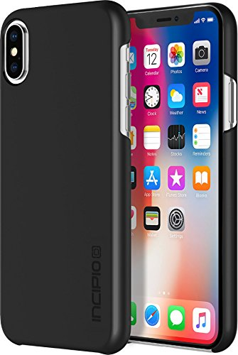 Incipio Feather Schutzhülle für Apple iPhone Xs / X - schwarz [Qi kompatibel/Ultra dünn/Sehr leicht/Matte Soft-Touch Oberfläche] - IPH-1643-BLK